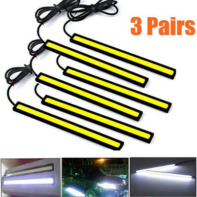 6pcs/3 Packs Water Resistant  DRL LED Strip Lights Bars Camping Caravan Boat COB