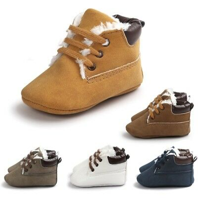 Winter Warm Shoe Infant Toddler Baby Boy Girl Soft Sole Crib Shoes Sneaker 0-18M