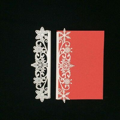 Christmas Snowflake Stencil Scrapbook Album Paper Card Metal Cutting Dies Latest