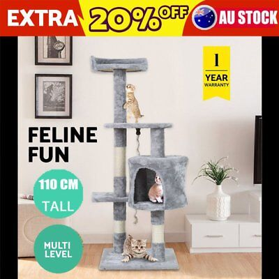 110CM Multilevel Cat Scratching Post Tree Gym Condo Furniture Scratcher Pole AUS