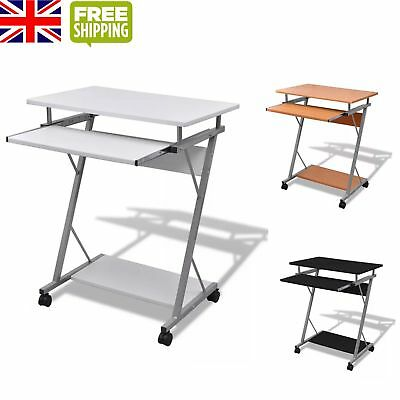 NEW Computer Desk Pull Out Tray Office Furniture Student Table Black/Brown/White