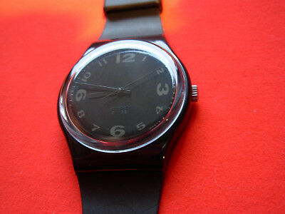 SWATCH gent AFTER DARK with perfect strap - 1992 - GB144 - New + pila gratis