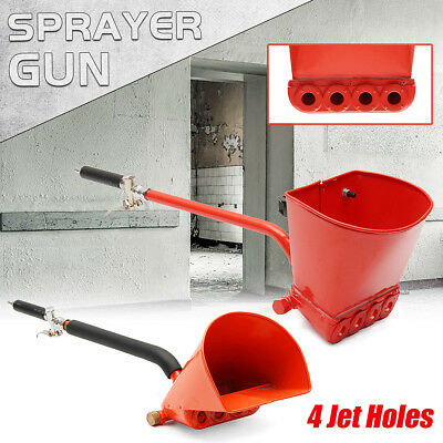 4 Jet Cement Mortar Stucco Wall Concrete Plaster Gun Spray Paint Sprayer Hopper