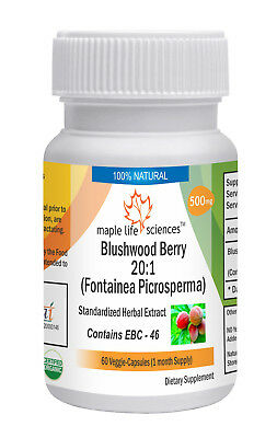 Blushwood Berry 20:1 Extract Capsules Fontainea picrosperma EBC - 46 NO Fillers