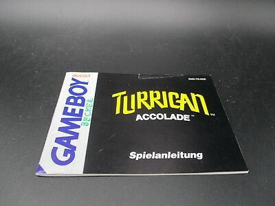 Turrican Game Boy Classic Spielanleitung Anleitung Manual Instruction Booklet