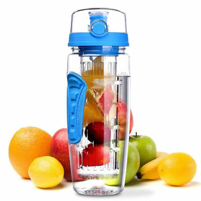 1000ML Laptone Infusion 3-in-1 Fruit Infusing 1 Litre Motivational Water Bottle