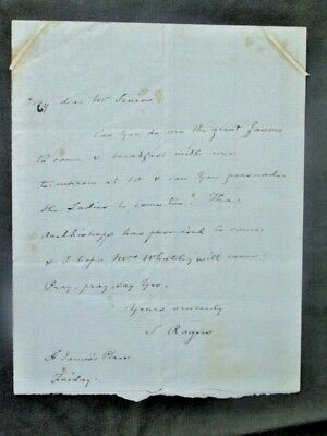 Samuel Rogers * autograph letter signed * English poet and art collector