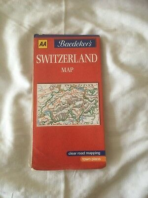 AA Baedeker's Map of Switzerland 1:303,000 scale