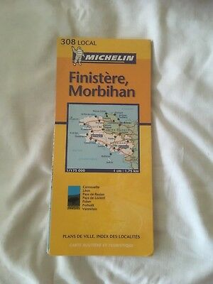 Michelin Map of Brittany - Finistere, Morbihan 1:175,000 scale