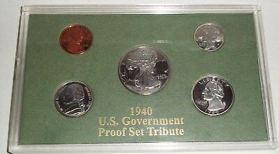 1940 Us Government Tribute Proof Set