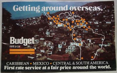 Budget Rent A Car Getting Around Overseas Information Brochure 1978 Vintage