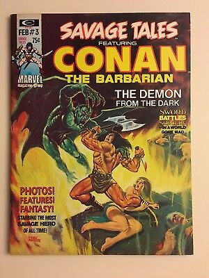 Stan Lee Presents The Savage Tales Featuring Conan The Barbarian #3 Feb 1974