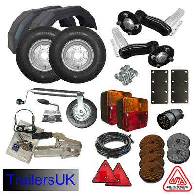 Complete Trailer kit suspension units, wheels, lights, coupling & jockey - NEW!