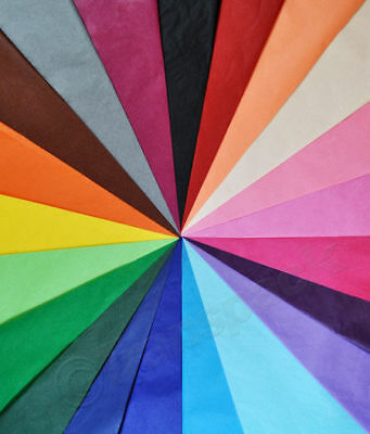 Quality Acid Free Large Tissue Paper Sheets - 32 Colours - Biodegradable 50X75Cm