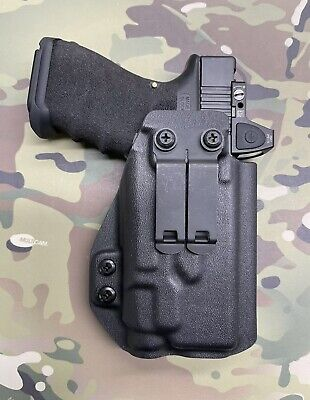 BLACK KYDEX IWB Holster for Glock 45 Streamlight TLR-7 w/adj Retention