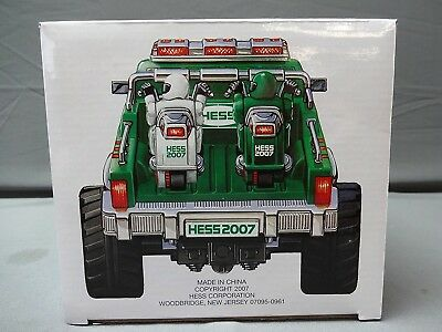 HESS 2007 Monster Truck with Motorcycles In Original Box