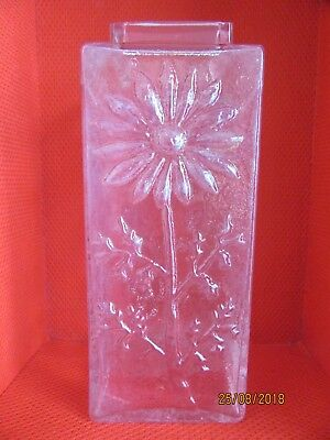 DARTINGTON Crystal Glass Marguerite Vase with Square Top FT228 by Frank Thrower