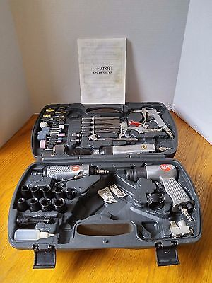 DeVilbiss Air Tool Kit 59 pieces with Storage Case Model ATK70  INCOMPLETE