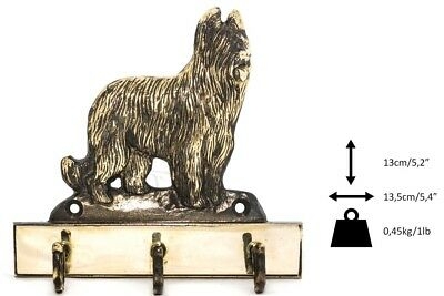 Briard - brass hanger with image of a dog, Art Dog UK