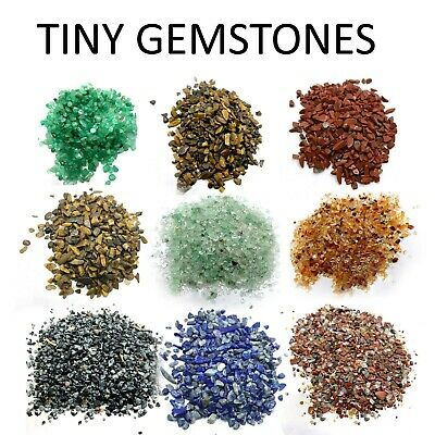 500 Pieces Mini Chips Tiny Gemstones Polished Natural Stone Healing Gem