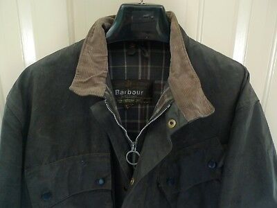 Barbour- A7 International Suit  Waxed Cotton Jacket- Vintage & Rare- Made @uk-42