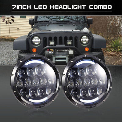 2X7inch Led Projector Headlights Combo Beam For Mazda Miata 1990-1997 Dual-Color