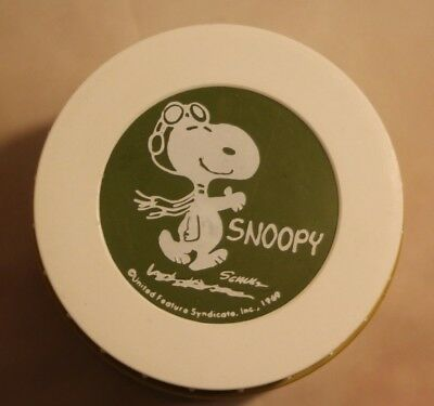 Snoopy Vintage Lunch Plastic Soup Lunch Thermos 1969 Red Barron Peanuts Schulz