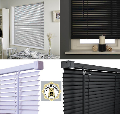PVC Venetian Blind Grey Trimable Window Blinds Drop 150cm Multiple Size Easy Fit
