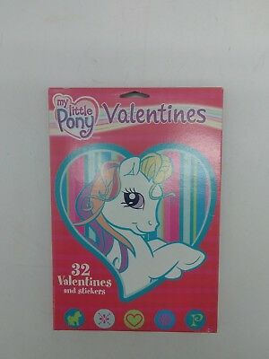 32 Count MY LITTLE PONY Valentines Day Cards W/ Stickers & Teacher Card School