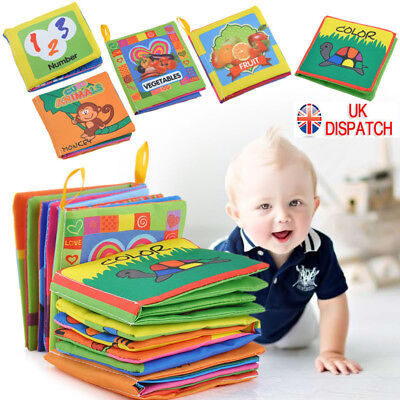 Kid Intelligence development Cloth Bed Cognize Book Educational Toy For BabyUK