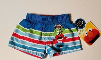 06bfb1437f SESAME STREET ELMO Infant Boys 0-3 3-6 6-9 18 24 Months Shorts SWIM ...