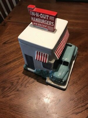 In-n-Out Cookie Jar 2007 Vintage Style + Certificate for a free soft drink