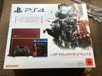 PS4 Karton LEER • PlayStation 4 OVP / Packung ohne Konsole Metal Gear 500GB
