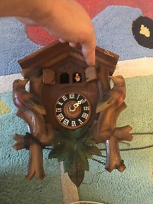 Old Carved Style Cuckoo Clock  For Parts