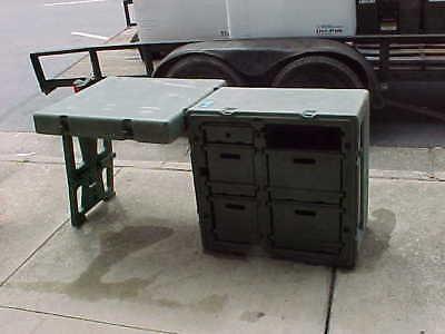 LOCAL PICK UP Hardigg military field desk MISSING CHAIR AND ONE DRAWER