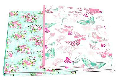 2019 A5/Slim/Pocket Week to View Fashion Floral,Butterflies Diary Hardback Cover