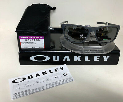 7d7291c0fcb New Oakley HOLSTON SUNGLASSES MATTE DARK GREY  PRIZM BLACK POLARIZED  OO9334-1158