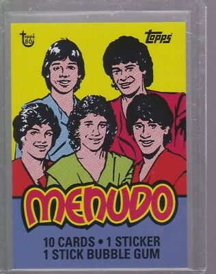 2018 Topps 80th Anniversary Wrapper Art Card #92 - 1983 Menudo Print Run 194