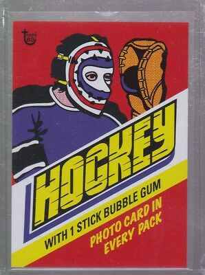 2018 Topps 80th Anniversary Wrapper Art Card #93 - 1977 Hockey Print Run 204