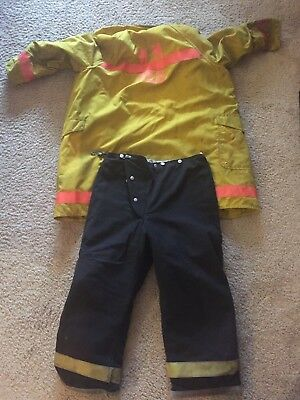 Vintage Firefighter Suit Alb Inc. Jacket and Globe Pants