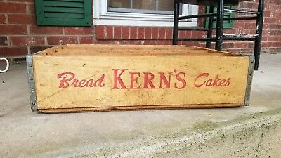 Vintage Kern's Kerns Bakery Wood Crate Advertising Bread Cake 1963 Knoxville Tn