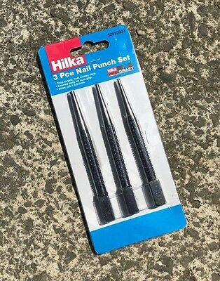 Hilka Pro Craft 3pc Nail Punch Set - 3 Piece - 0.8, 1.5 & 2.5mm.