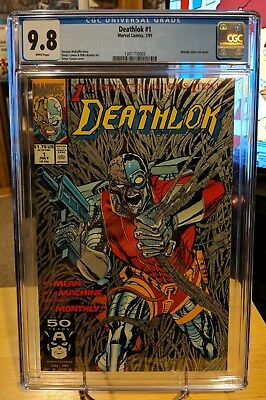 Deathlok #1 Comic Metallic Cover 1991 CGC 9.8 NM/MT New style case