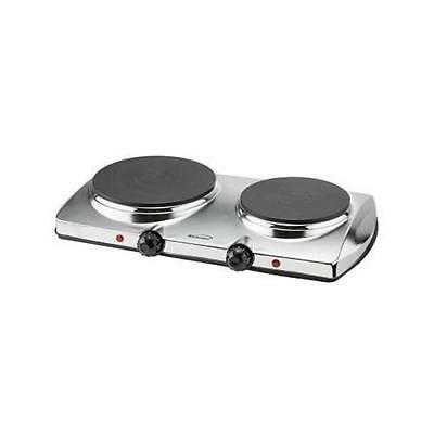 Brentwood Electric Dble Hot Plate 1440W - TS-372