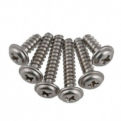 M2/2.2/2.6/3/4 Flanged Phillips Flat Tail Self Tapping Screws A2 Stainless