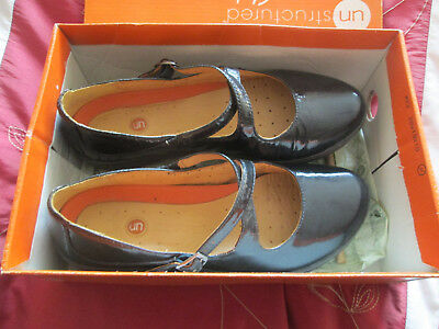 Ladies Clarks Buckle Up Mary Jane Flats Un Lady Shoes.Size 5uk Never Worn