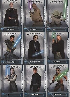 Topps Star Wars Masterwork 2018 HISTORY OF THE JEDI Insert - Choose your Card!
