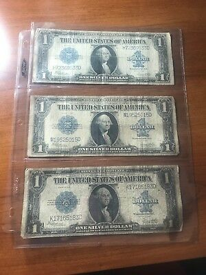 Three 1923 Silver Certificates, Auction, No Reserve