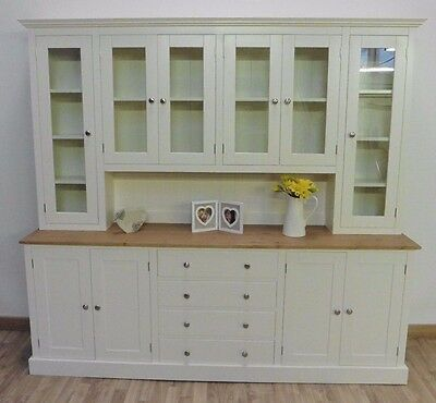 New Solid Pine 7ft Painted Welsh Dresser, Dining/Kitchen Unit In Any F&B colour