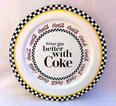 """Coca Cola 10"""" Things Go Better With Coke Ceramic Plate"""